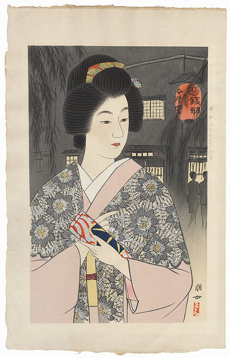 Beauty at Night, 1962 by Jinbo Tomoyo (1902 - 1994)