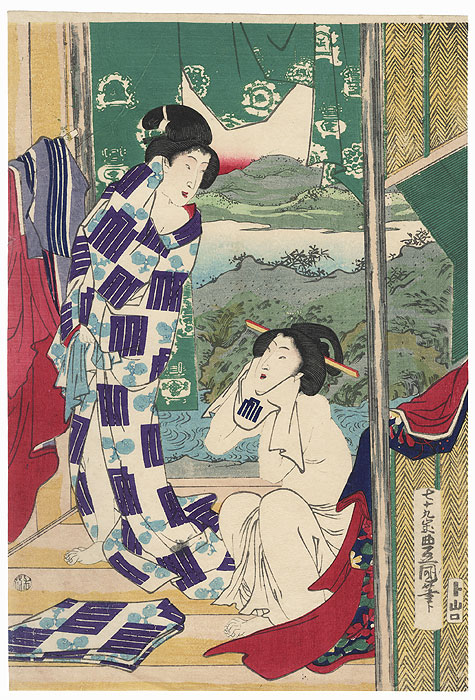 Beauties after a Bath by Toyokuni III/Kunisada (1786 - 1864)