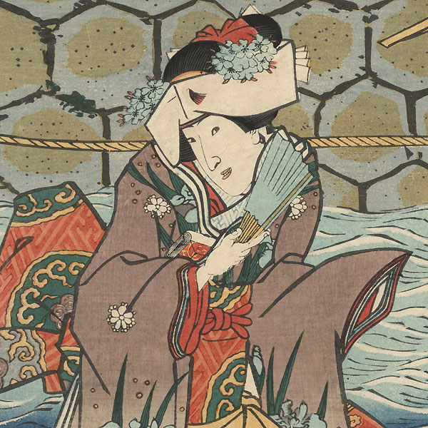 The 47 Ronin, Act 3: The Rear Gate 1854 by Toyokuni III/Kunisada (1786 - 1864)