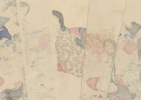 Wedding Ceremony, 1896 by Chikanobu (1838 - 1912)