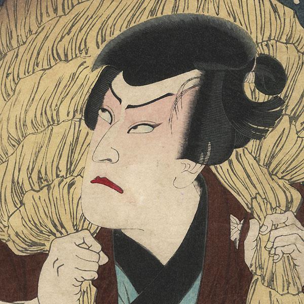 Light Snow: Ichikawa Sadanji I as Obo Kichiza, circa 1876 by Yoshitoshi (1839 - 1892)