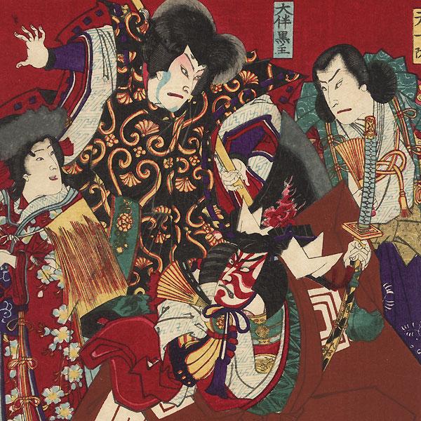 Kabuki Characters, 1889 by Chikanobu (1838 - 1912)