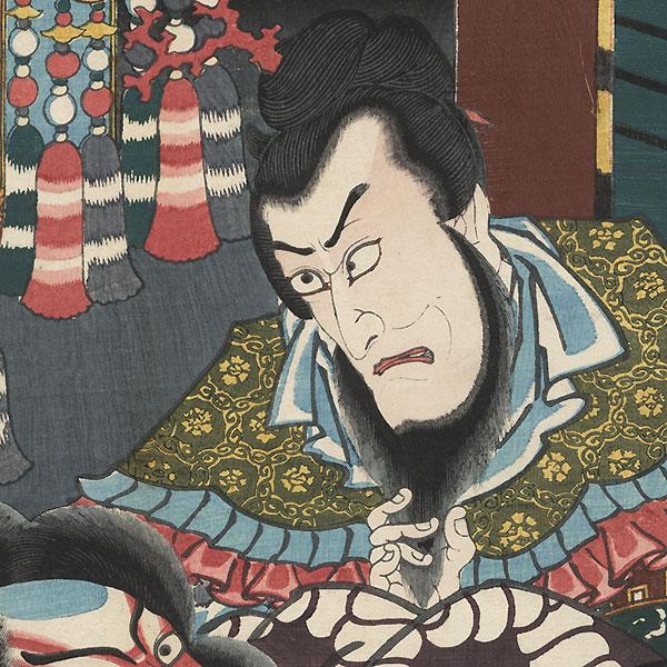 The Syllable Ko for the Play Kokusenya: Ichikawa Ebizo V as Kanki and Ichikawa Danjuro VIII as Watonai by Toyokuni III/Kunisada (1786 - 1864)
