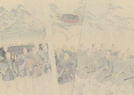 Imperial Procession at Ueno  by Chikanobu (1838 - 1912)