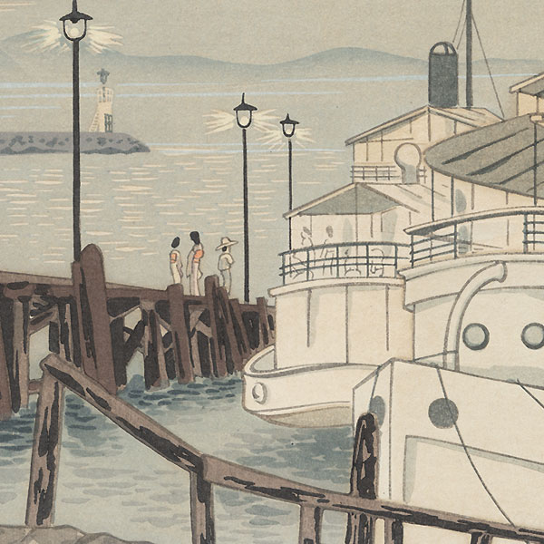 Evening View of Hamaotsu by Tokuriki Tomikichiro (1902 - 1999)