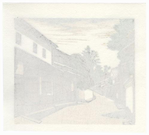 Village Street by Koichi Maeda (born 1936)