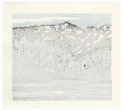 Mountains and Trees by Fumio Fujita (born 1933)