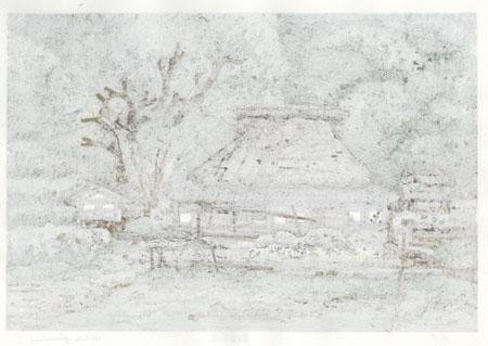 Village in Shufuku-ji by Nishijima (born 1945)