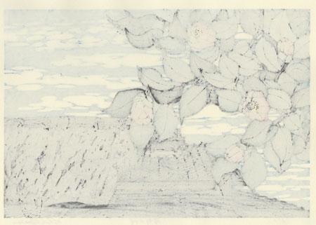 Camellia in Yoshino by Nishijima (born 1945)