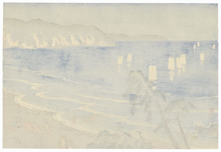 Netting Fish in Summer at Jibiki, circa 1922 by Kawatsura Yoshio (1880 - 1963)