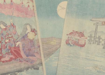 Sailing by Moonlight, 1891 by Nobukazu (1874 - 1944)