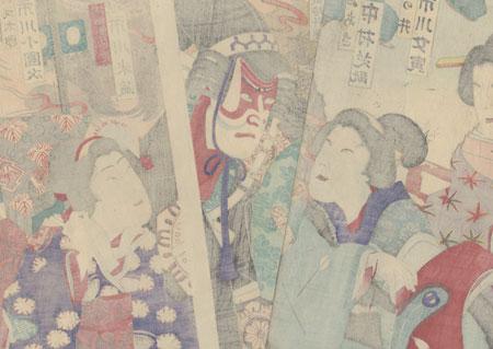 Warrior and Beauties by Kunisada III (1848 - 1920)