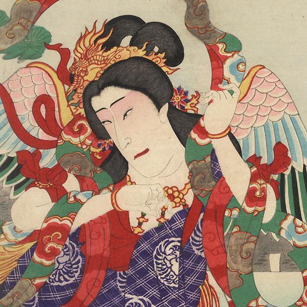 New Play at the Kabukiza, 1898 by Kunisada III (1848 - 1920)