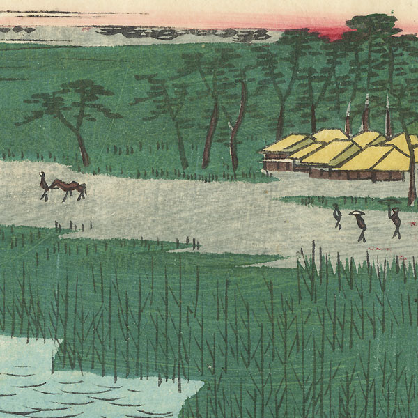 Matsukaze Village, Owari Province, 1862 by Hiroshige II (1826 - 1869)