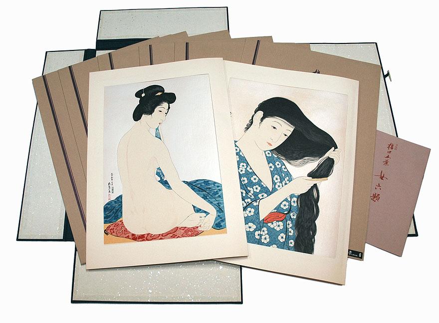 Yuyudo Commemorative Goyo Set - 6 Prints by Hashiguchi Goyo (1880 - 1921)