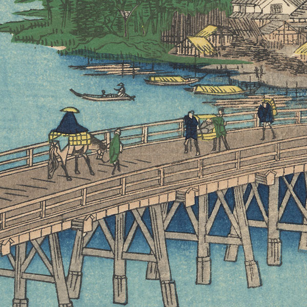 Senju Great Bridge by Hiroshige (1797 - 1858)