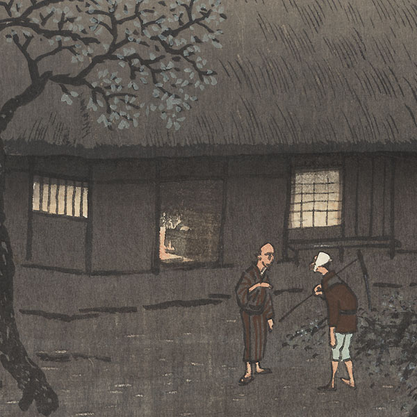 Village at Twilight, circa 1920s by Kawatsura Yoshio (1880 - 1963)