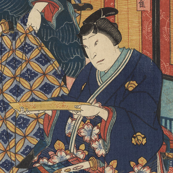Umegae, Chapter 32: Nakamura Kanjaku and Nakamura Sojuro by Yoshitaki (1841 - 1899)