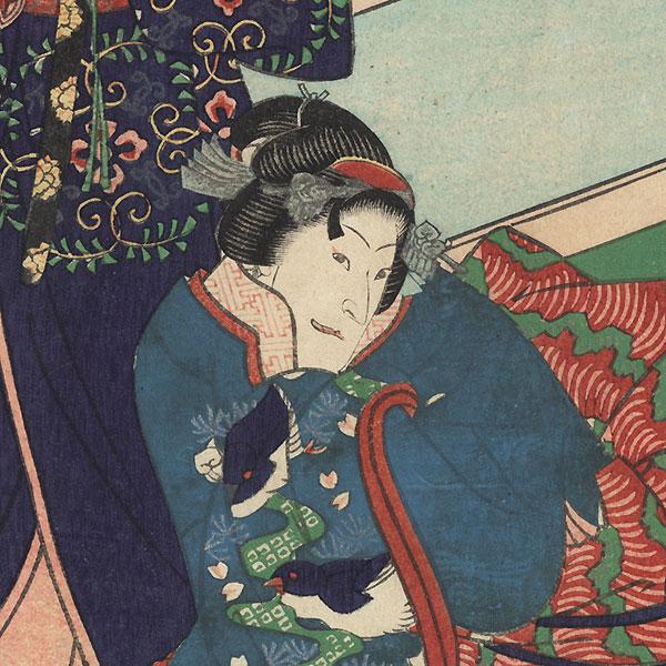 Azumaya, Chapter 50: Jitsukawa Ensaburo by Yoshitaki (1841 - 1899)