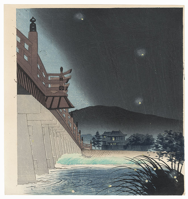 Fireflies at Uji River by Tokuriki (1902 - 1999)