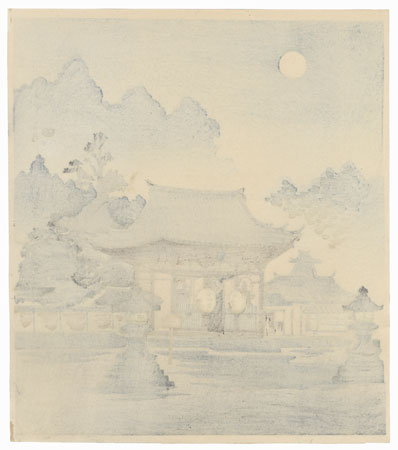 Ishiyama Temple and the Full Moon by Tokuriki (1902 - 1999)