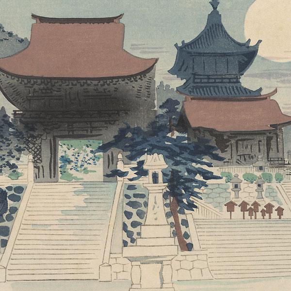 Kiyomizu Temple by Tokuriki (1902 - 1999)