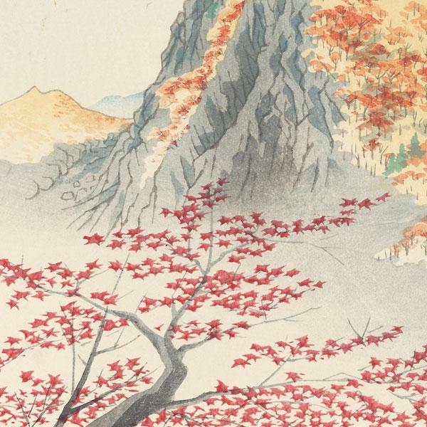 Mountain in Autumn by Tokuriki (1902 - 1999)