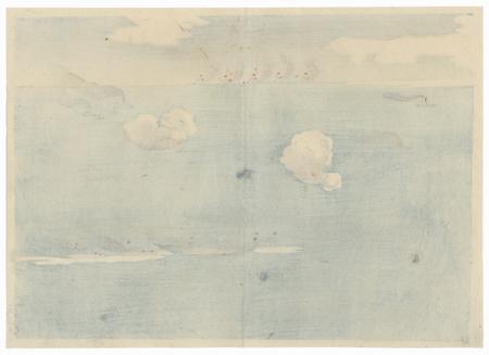 The Battle of Yalu River by Meiji era artist (unsigned)