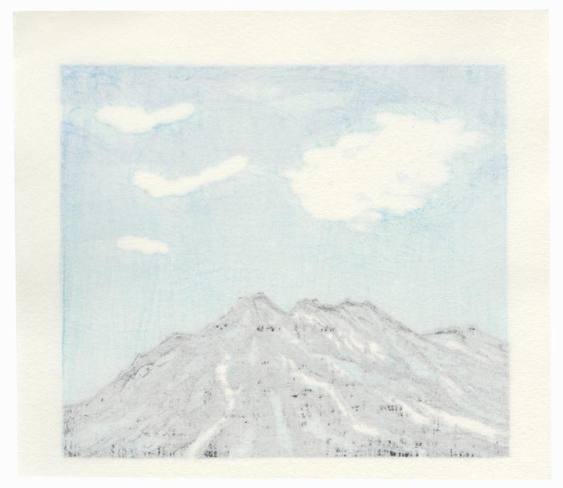 Mountain and Clouds, 1988 by Fumio Fujita (born 1933)