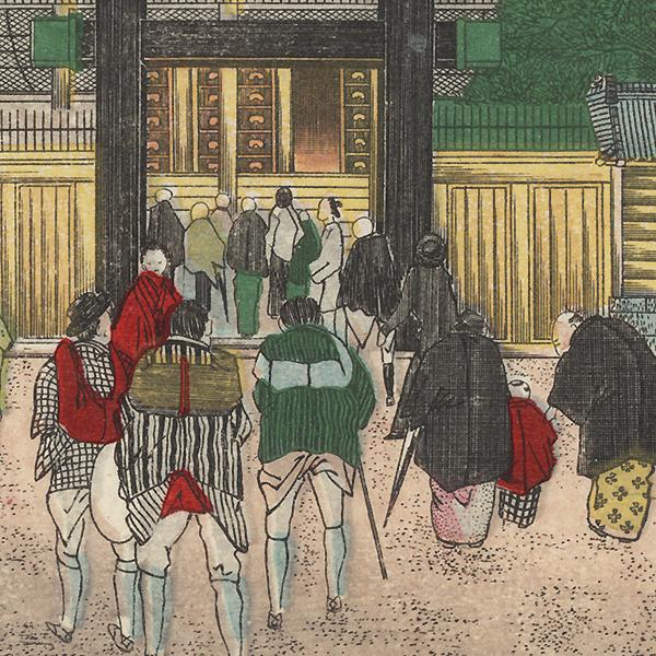 Entrance to a Shrine by Meiji era artist (unsigned)