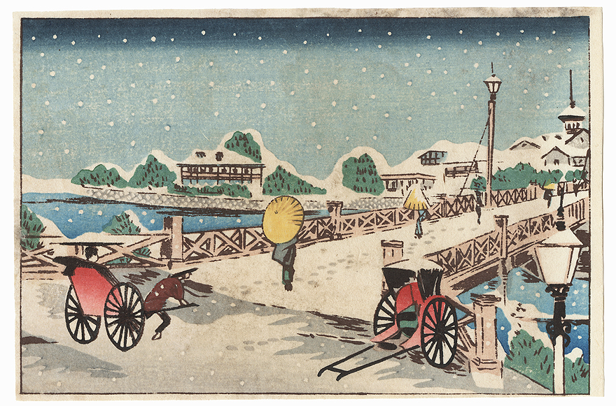 Bridge in Winter by Meiji era artist (unsigned)