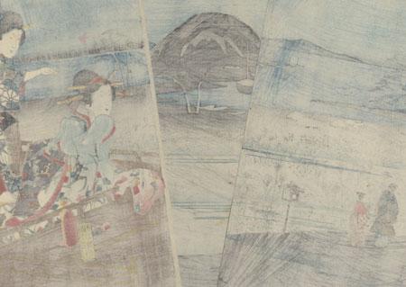 Akashi, 1853 by Hiroshige (1797 - 1858) and Toyokuni III/Kunisada (1786 - 1864)