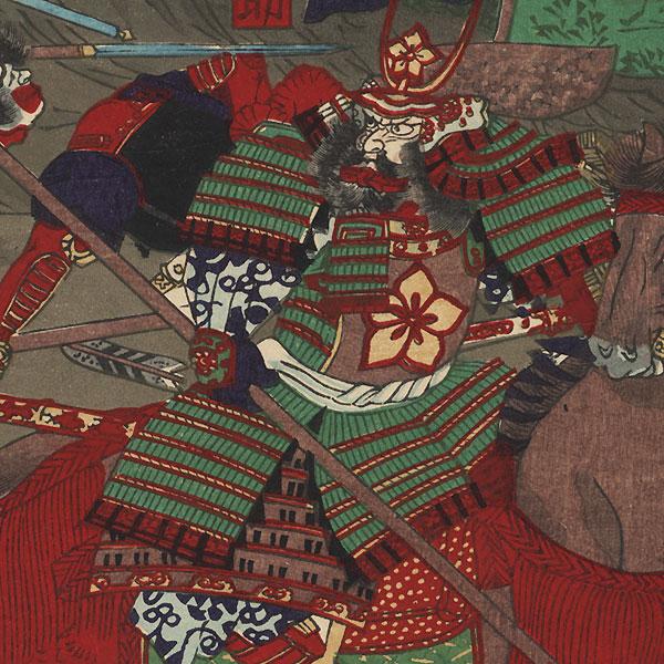 Tying Enemy Heads to Bamboo Stalks by Yoshitsuya (1822 - 1866)