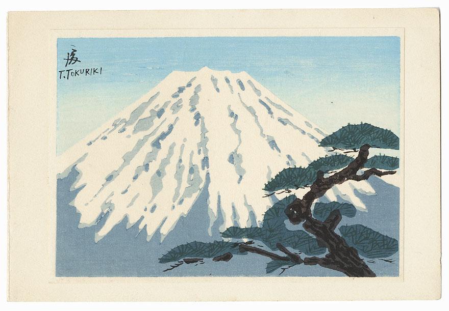 View of Mt. Fuji by Tokuriki (1902 - 1999)