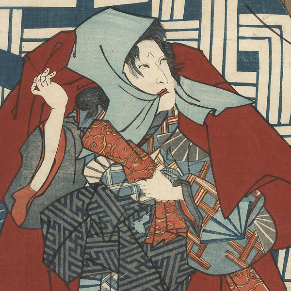 Struggling with an Elderly Woman, 1851 by Kunisada II (1823 - 1880)