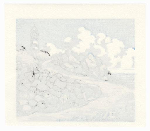 Path and Lighthouse by Masaya Watabe (born 1931)