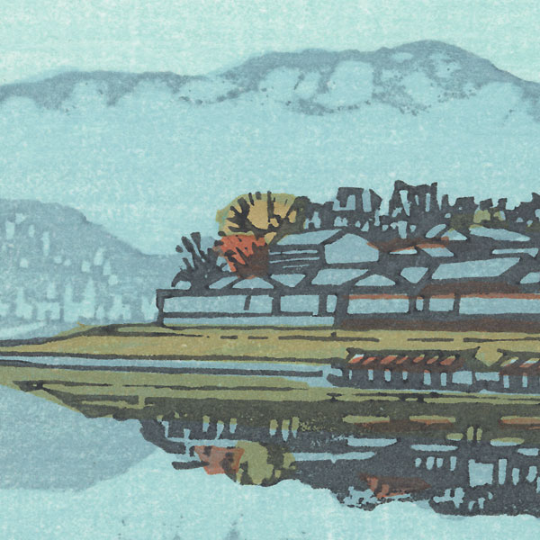 Autumn View of a City along the Shore by Takao Sano (born 1941)