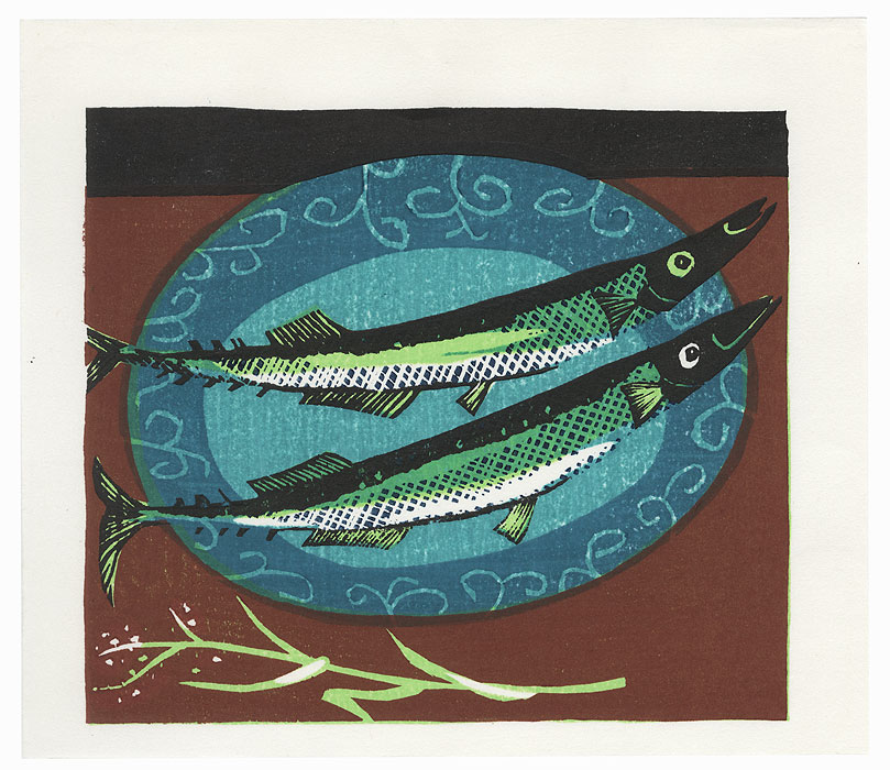 Fish on a Plate, 1982 by Shiro Takagi (born 1934)