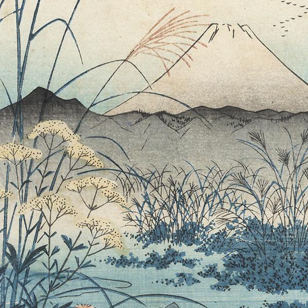The Otsuki Plain in Kai Province, 1858 by Hiroshige (1797 - 1858)