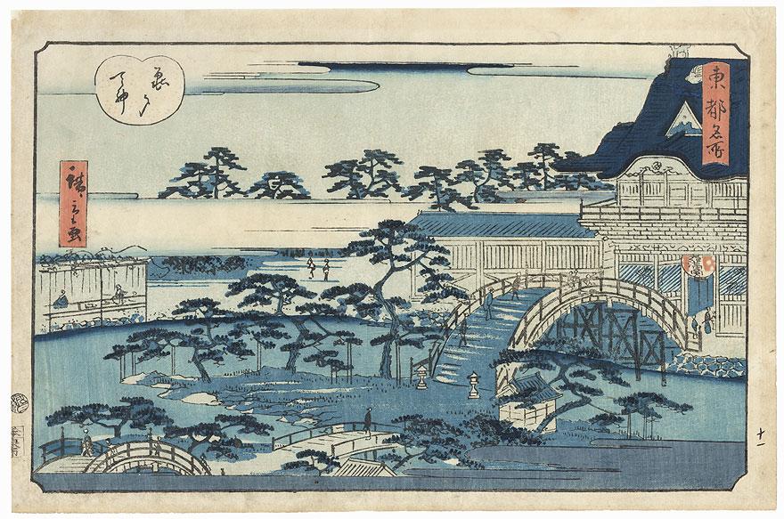 Kameido Tenjin Temple by Hiroshige II (1826 - 1869)