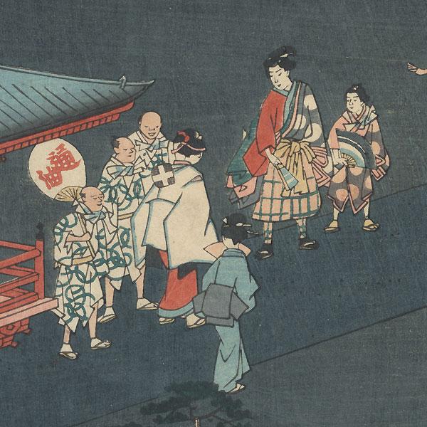 The Sanno Shrine, 1862 by Hiroshige II (1826 - 1869)