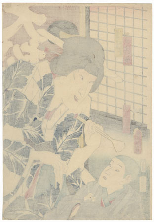 Ichimura Uzaemon XIII as Tamiya Botaro, 1852 by Toyokuni III/Kunisada (1786 - 1864)