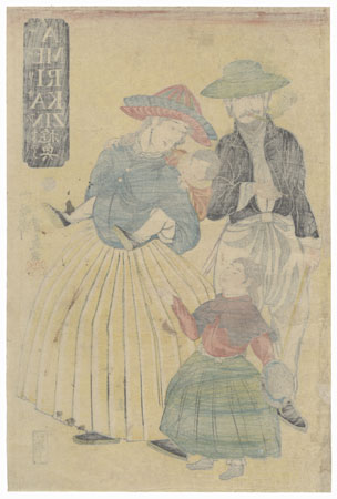 Americans, 1861 by Yoshifuji (1828 - 1889)