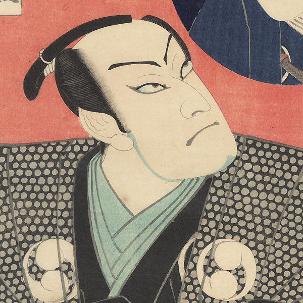 Nakamura Shikan IV as Oboshi Yuranosuke by Kunichika (1835 - 1900)