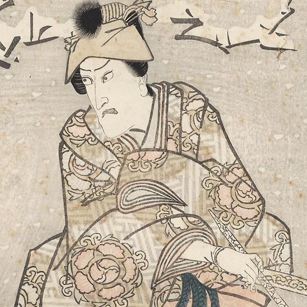 Ichikawa Danjuro VII as Kusunoki Tatewaki Masayuki, 1817 by Toyokuni I (1769 - 1825)