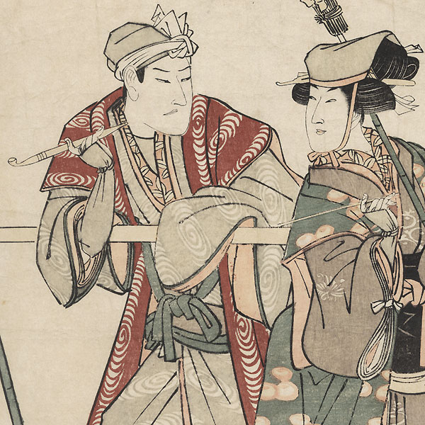 Sawamura Gennosuke as the Tea Whisk Seller Oyae, 1804 by Toyokuni I (1769 - 1825)
