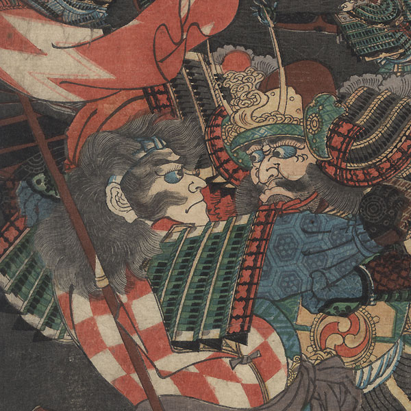 Yamagata Saburobei versus Watanabe, Governor Director of Etchu by Yoshitsuya (1822 - 1866)