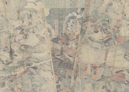 Abe no Sadato, 1847 - 1852 by Sadahide (1807 - 1873)