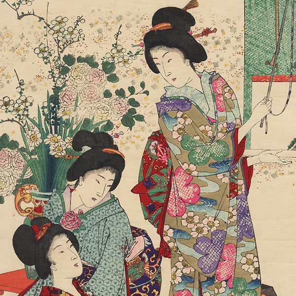 Customs and Manners of Women in Old Japan, 1892 by Chikanobu (1838 - 1912)