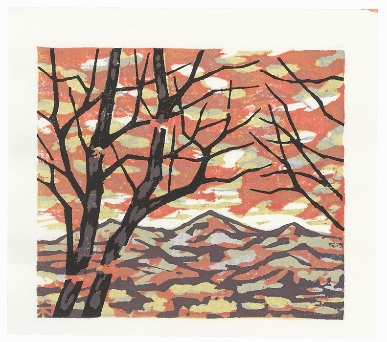 Trees in Autumn, 2003 by Fumio Fujita (born 1933)
